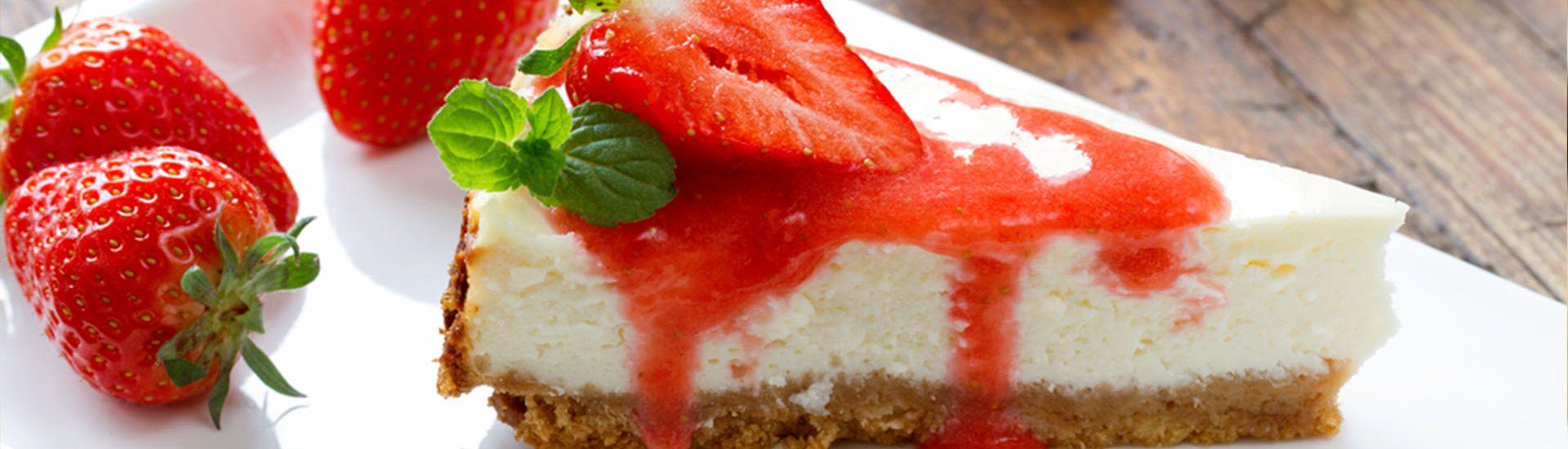 cheesecake de morango saudável granola