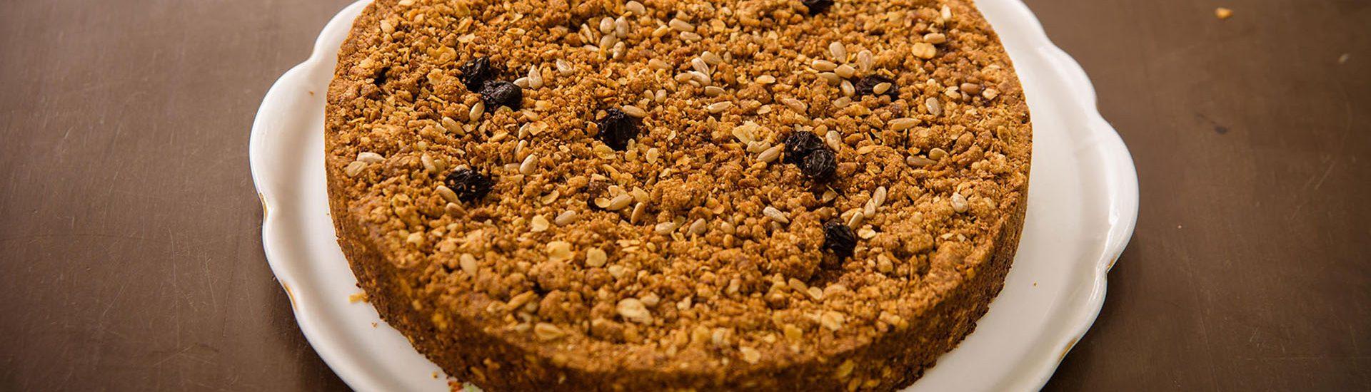 torta de banana granola saudável light receita
